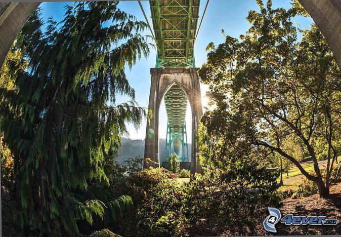St. Johns Bridge, under the bridge, park