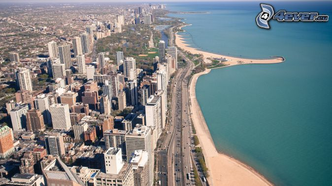 Chicago, coastal city, view of the city
