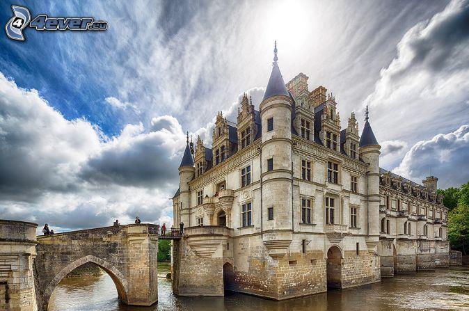 Château de Chenonceau, clouds