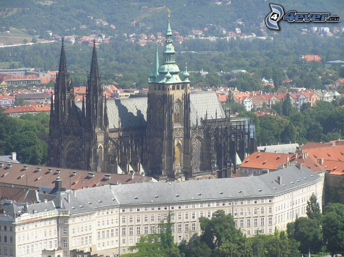 Prague Castle, church, cathedral, city