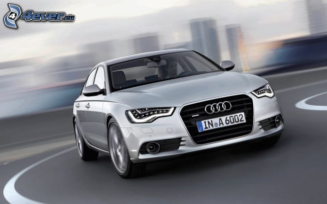 Audi S6, road curve, speed