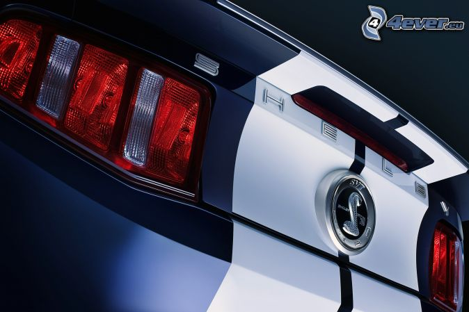 ford mustang shelby gt500 taillight logo