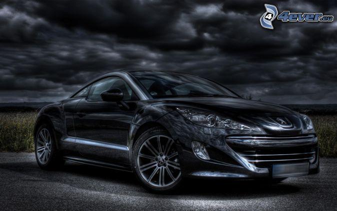 Peugeot RCZ, dark clouds