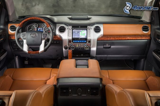 Toyota Tundra, interior, steering wheel, dashboard