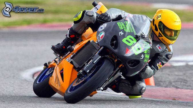 moto-biker, motocycle, racing circuit