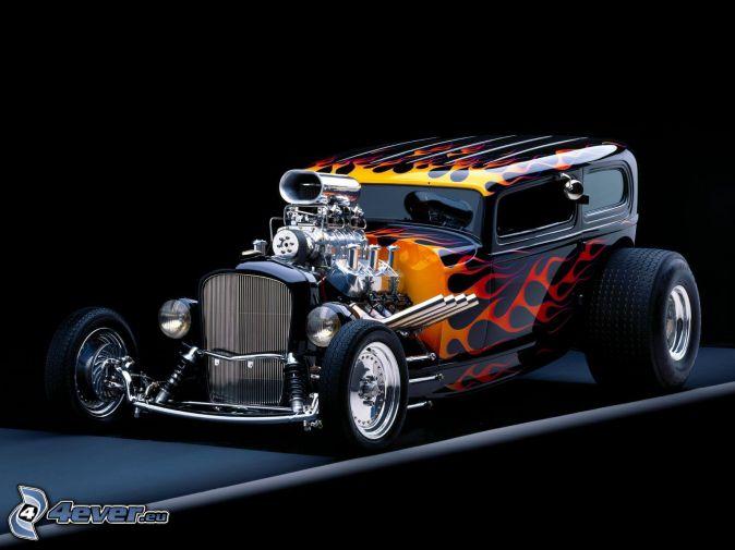 Hot Rod Dragster , Big Block , tuning , car