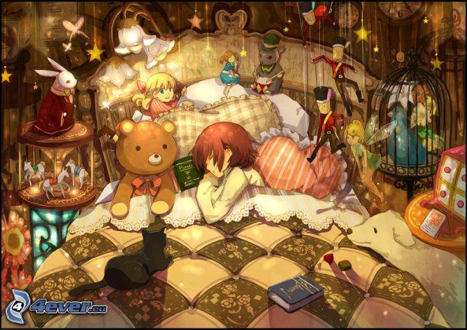 نتیجه تصویری برای anime sleep girl