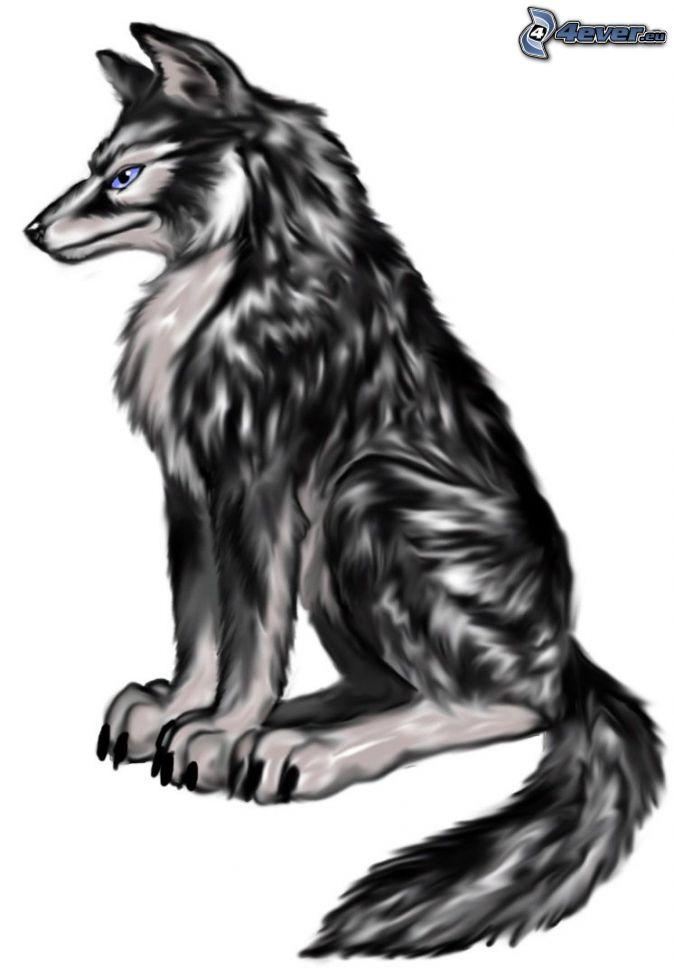 Cartoon wolf change