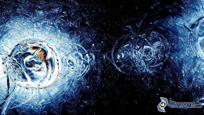 drops of water, circles