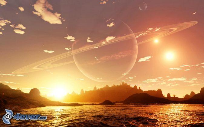 Saturn, sea