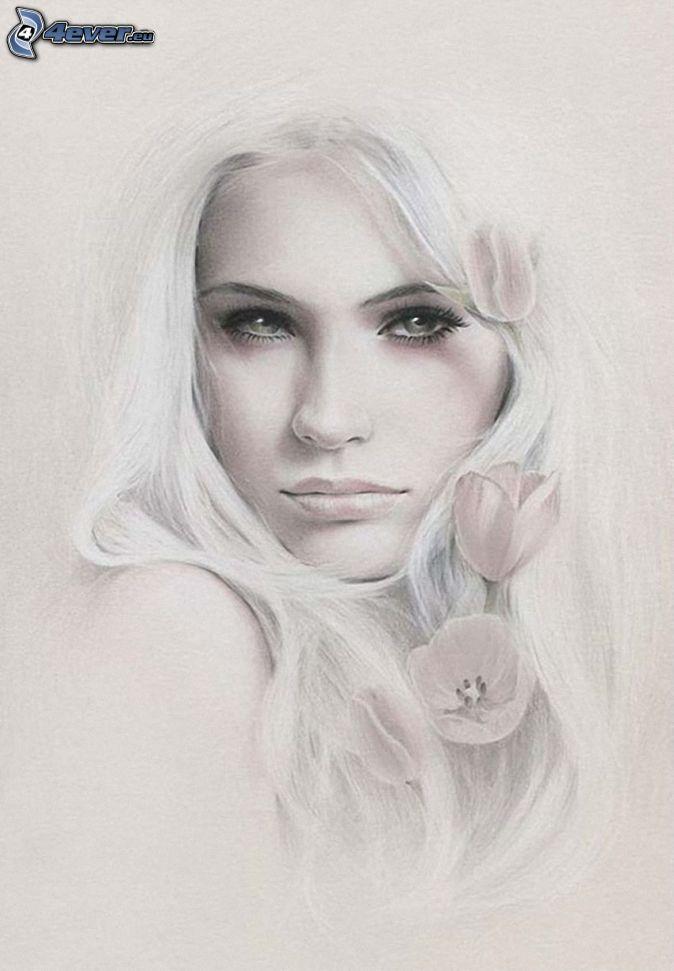Beautiful Woman Cartoon Face Beautiful Woman's Face