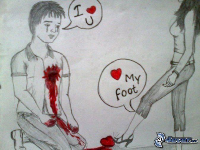 Cute Love Broken Heart Drawing