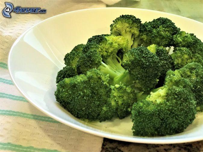 broccoli, plate