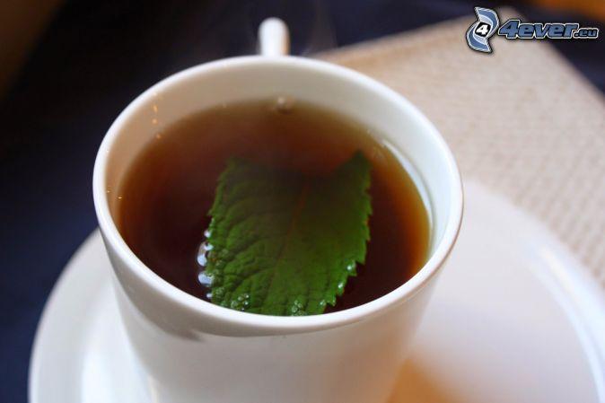 peppermint tea, cup