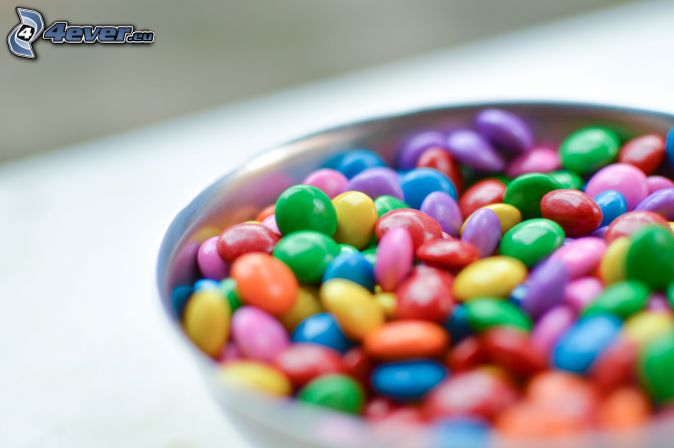 Smarties, colorful candy