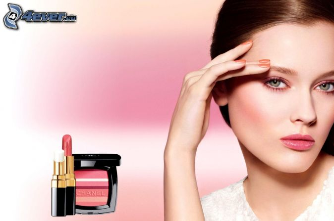 Chanel, lipstick, brunette