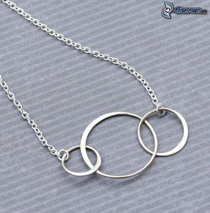 silver pendant, circles