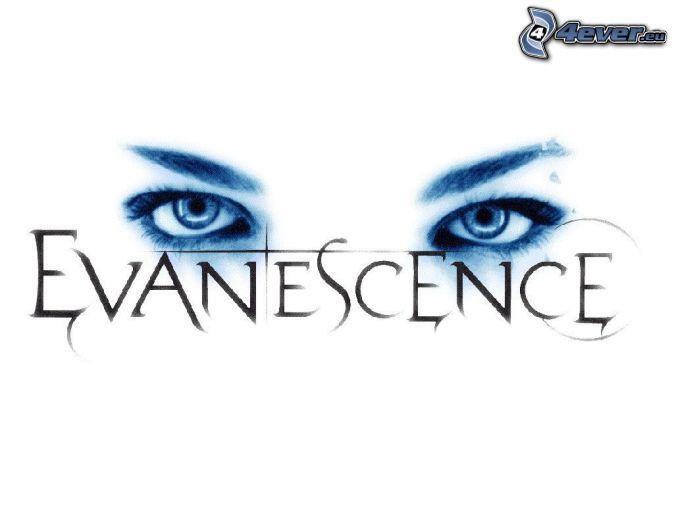 Evanescence , logo , eyes change