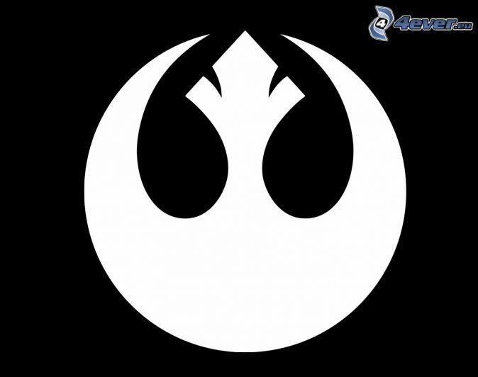 Rebel Alliance, black and white