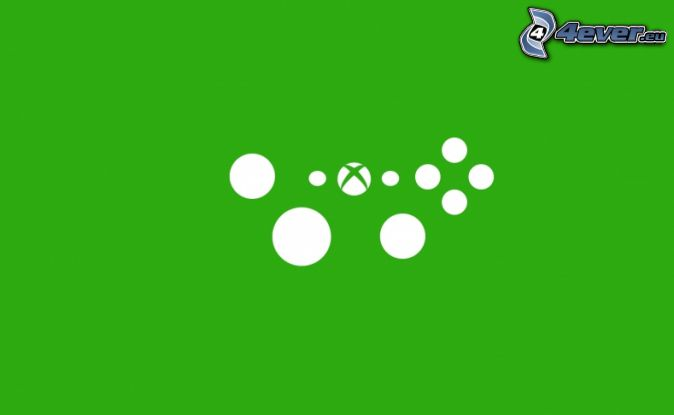 Xbox, circles, green background