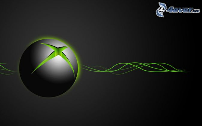 Xbox, waves, gray background