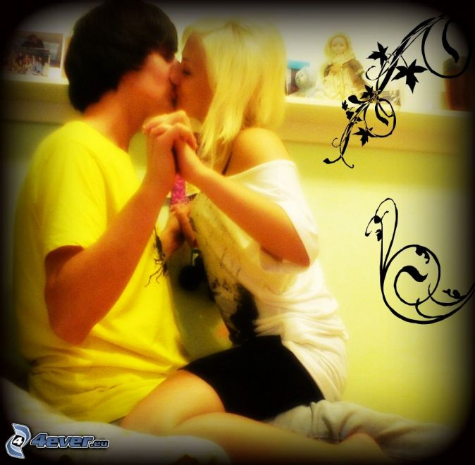 boy girl kiss love - photo #25