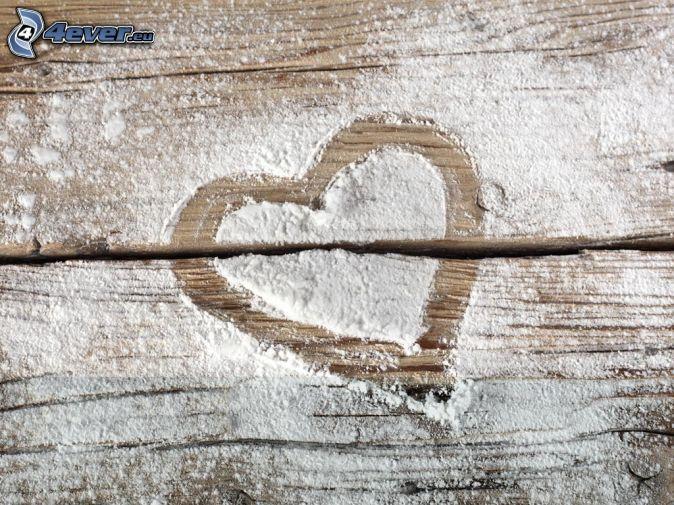 heart, flour