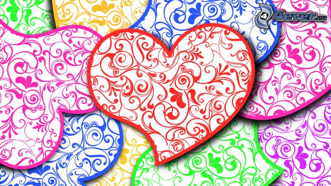 hearts, colors