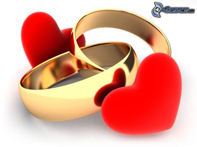 rings, hearts