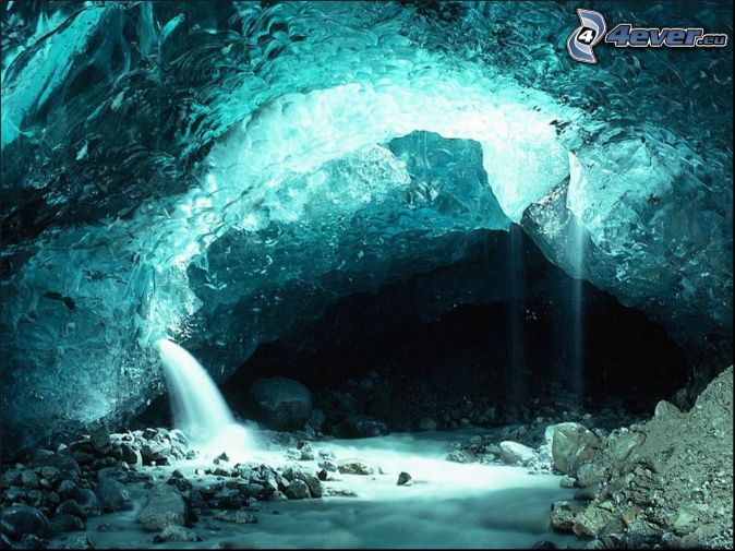 cave, crystal, rocks