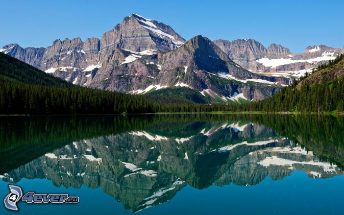 Mount Wilber, lake, reflection, forest