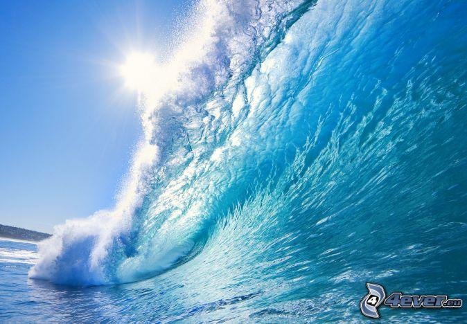 wave, sun