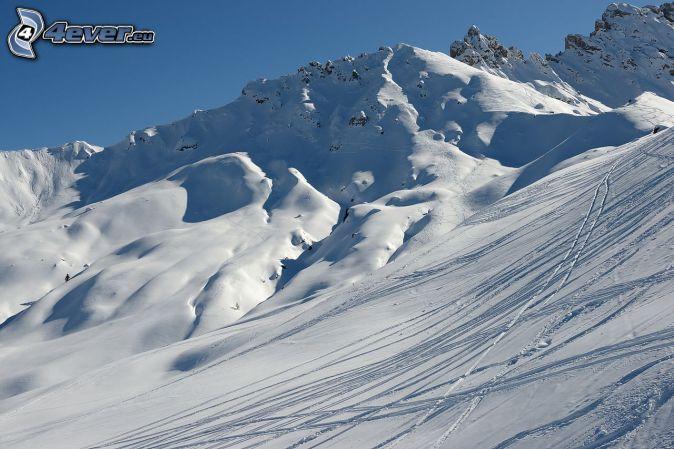 ski slope, snowy hill
