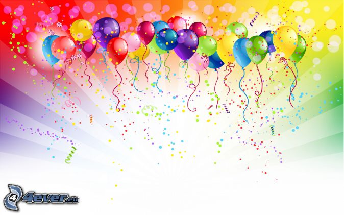 balloons, colorful background, colored balls
