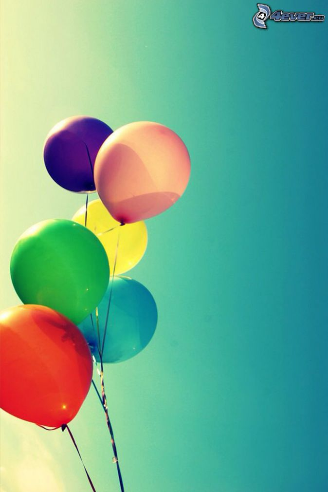 balloons, colors
