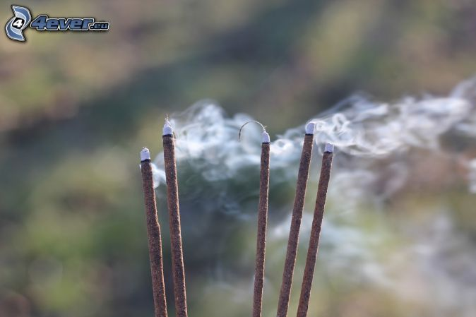 incense sticks, smoke