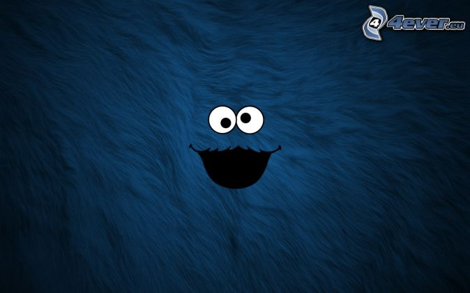 smiley, eyes, blue background