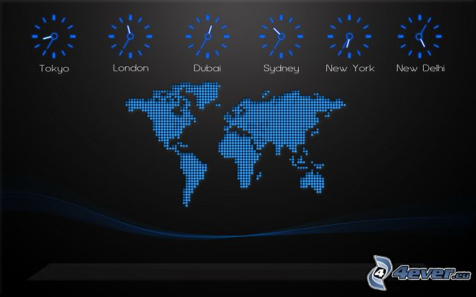 World map world map clock time gumiabroncs Image collections