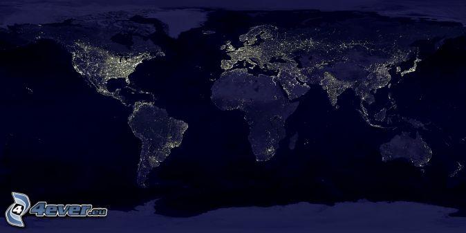 World map world map night lighting gumiabroncs Choice Image