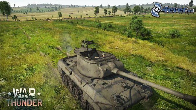 War Thunder, M18 Hellcat, meadow