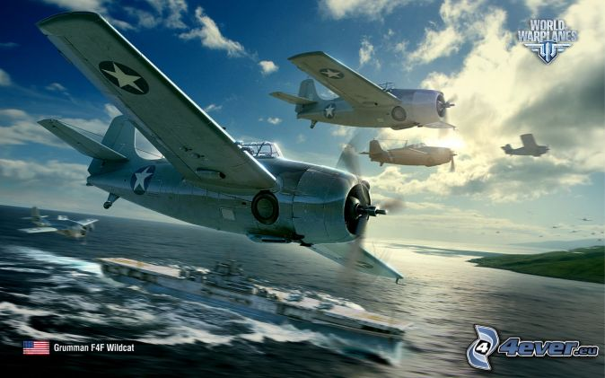 World of warplanes, ship, open sea