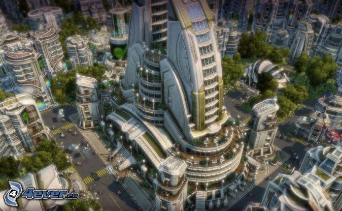 Anno 2070, sci-fi city