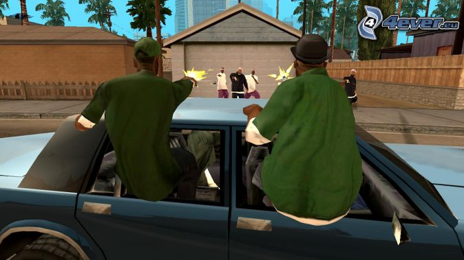 GTA San Andreas, shooting