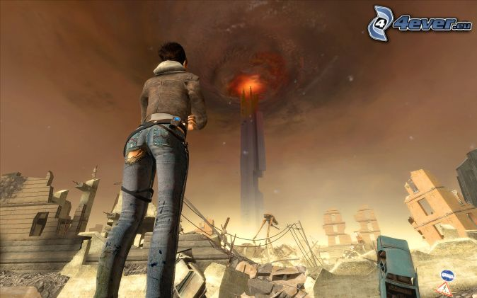 Half-life, башня обои, картинки, фото.