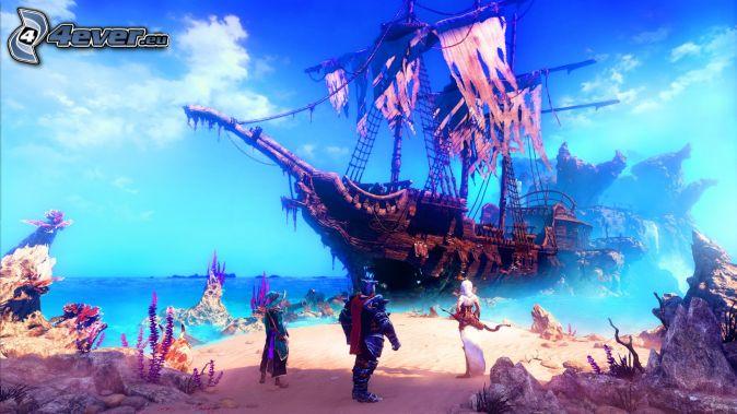 Trine, ship, pirates, sea