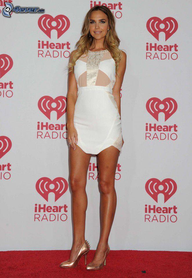 Arielle Kebbel, white dress