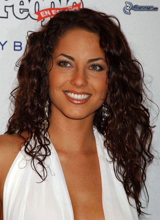 Barbara Mori, smile, curly hair
