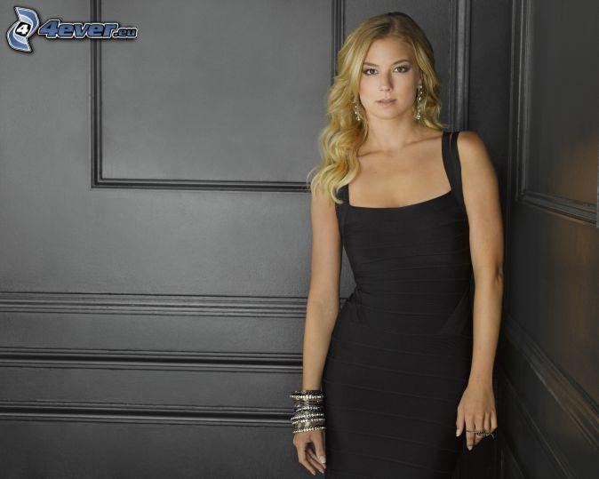 Emily VanCamp, black dress