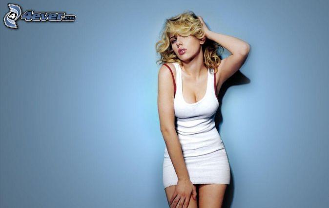 Scarlett Johansson, white dress