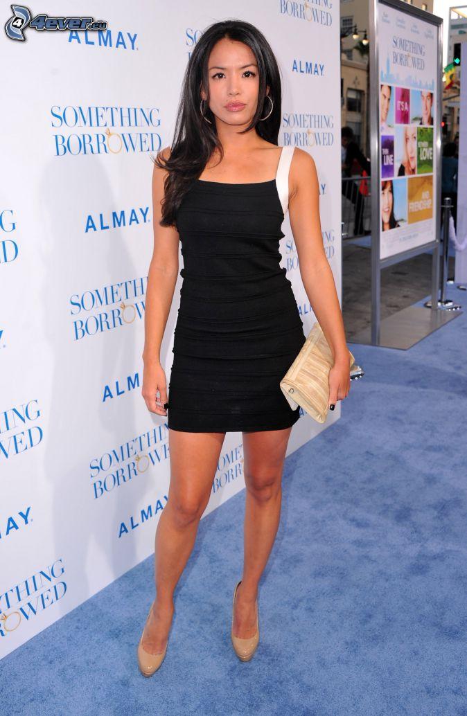 Stephanie Jacobsen, black minidress
